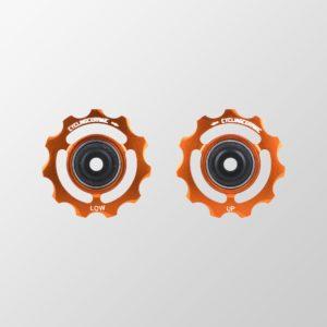 Galets de dérailleur orange CyclingCeramic