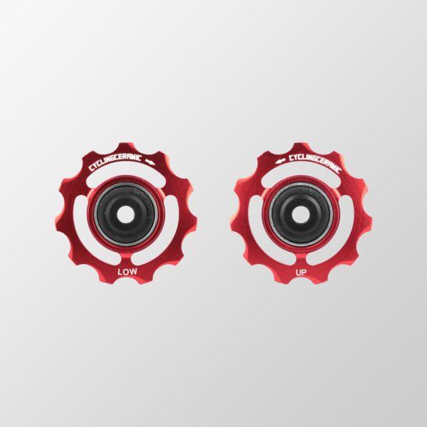 Galets de dérailleur rouge CyclingCeramic