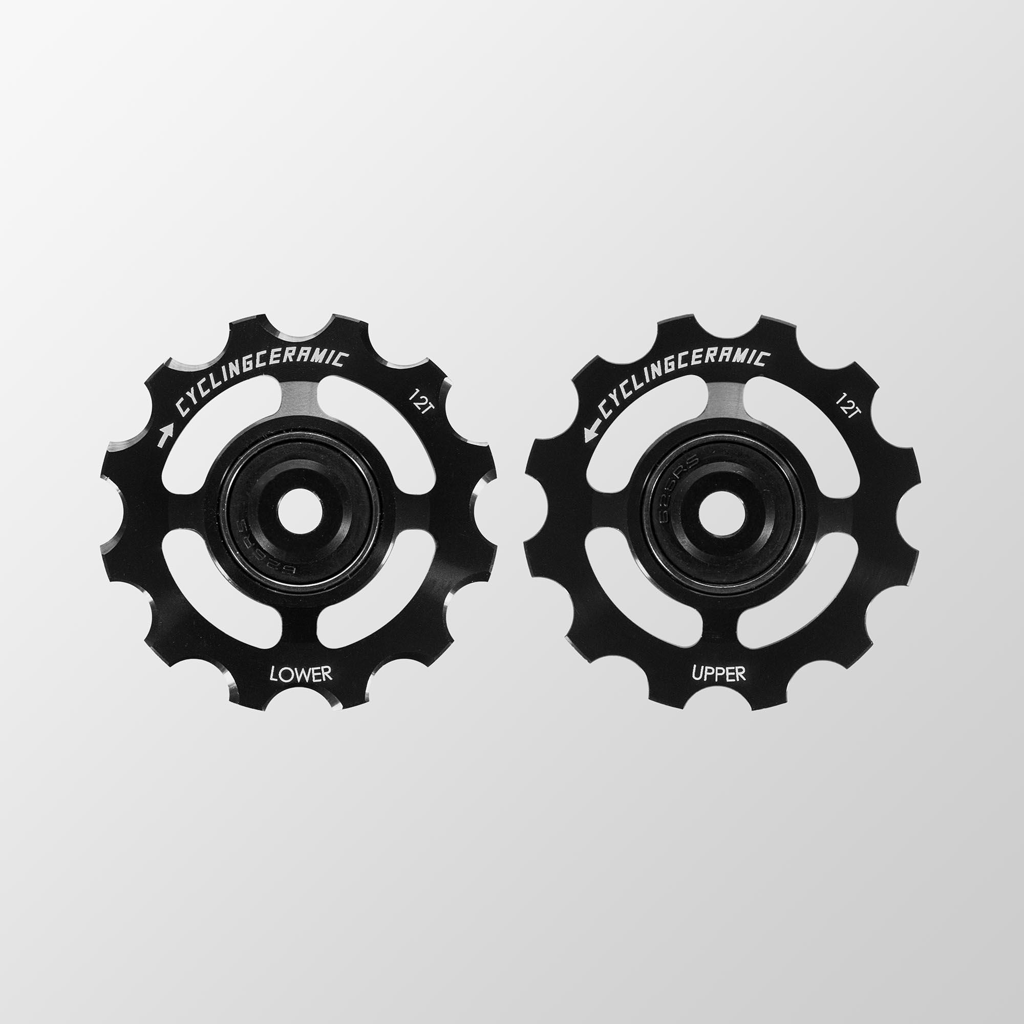 Galets de dérailleur noir CyclingCeramic