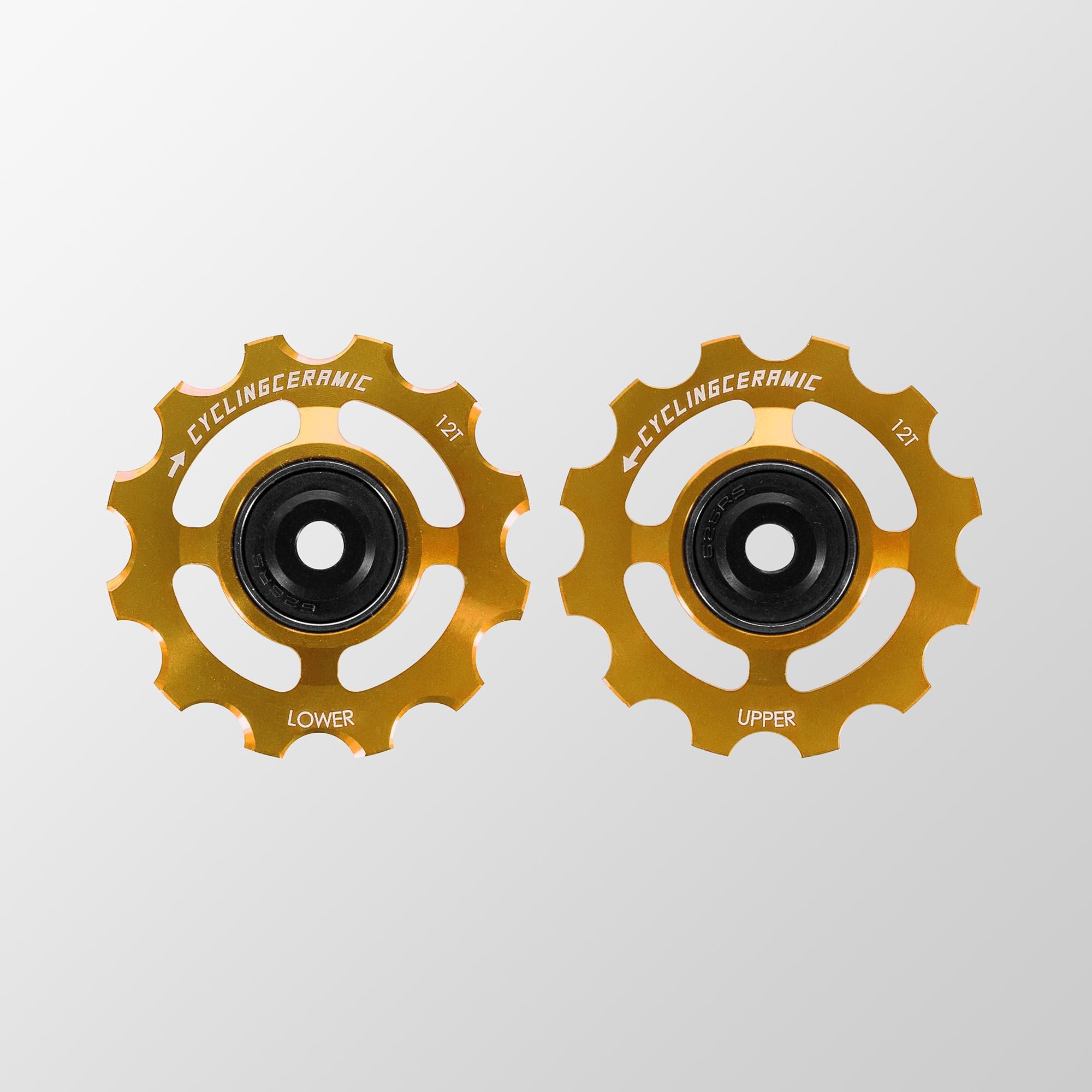 Galets de dérailleur or CyclingCeramic